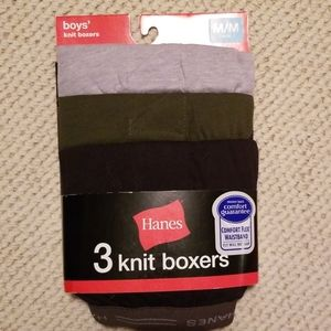 Boys Hanes Knit Boxers Size M, 10-12
